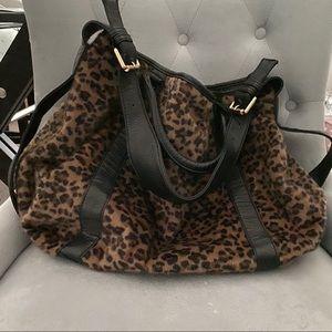 Slouchy Leopard Print Shoulder Bag